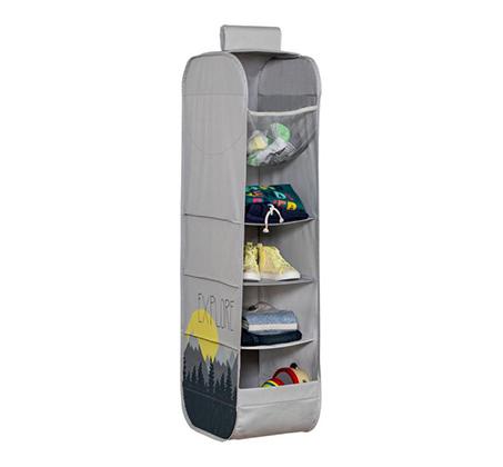 מתקן אחסון בתלייה לבגדים ומשחקים בארון