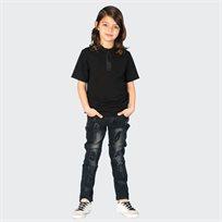 ORO חולצת פולו גומי שחור (7-2 שנים)