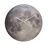 שעון קיר זכוכית ירח מלא