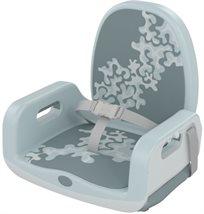 מושב הגבהה רב שימושי עד גיל 5 עם מנגנון התקנה יחודי Upto5 - ירוק/אפור