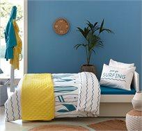 סט מצעים לחדרי ילדים ונוער 100% כותנה דגם Wave בגדלים לבחירה KITAN