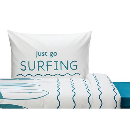 סט מצעים לחדרי ילדים ונוער 100% כותנה דגם Wave בגדלים לבחירה KITAN - תמונה 2