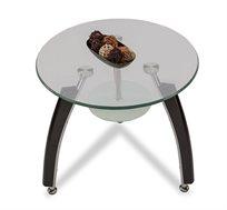 שולחן קפה מזכוכית עם מדף תחתון HOMAX דגם לוקה