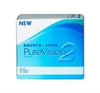 מארז 4 חבילות עדשות מגע חודשיות Purevision 2 למשך שנה