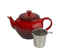 קומקום לחליטת תה כולל מסנן 1 ליטר עשוי מקרמיקה בגוון אדום דובדבן LE CREUSET