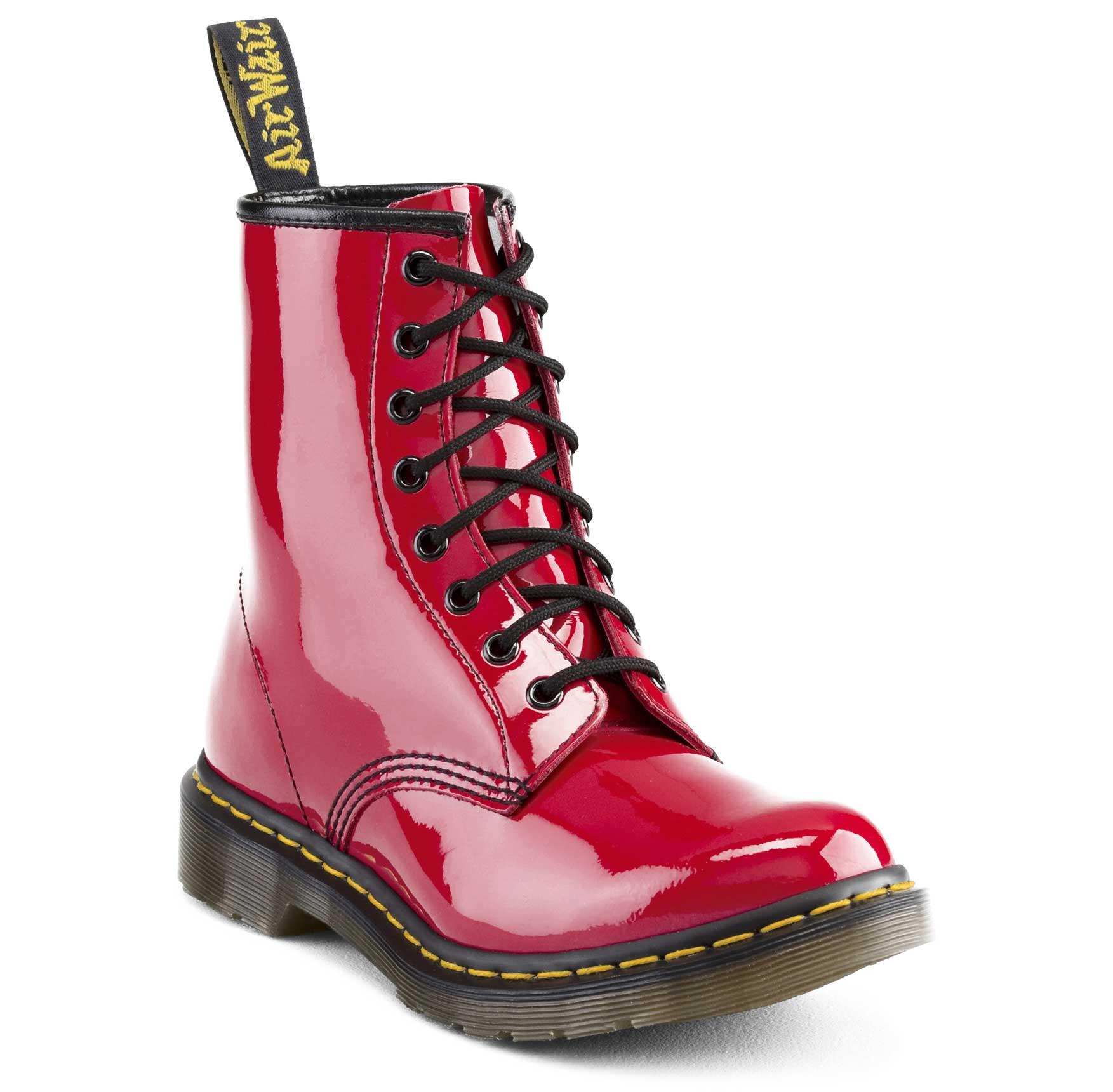 נעלי נשים Dr. Martens - דגם 8 Eye Boot Patent Lamper