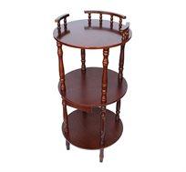 שולחן צד 3 קומות מעץ