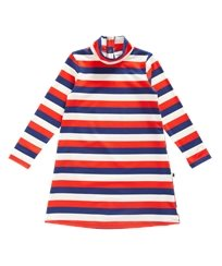 Blockstripe ls dress multi