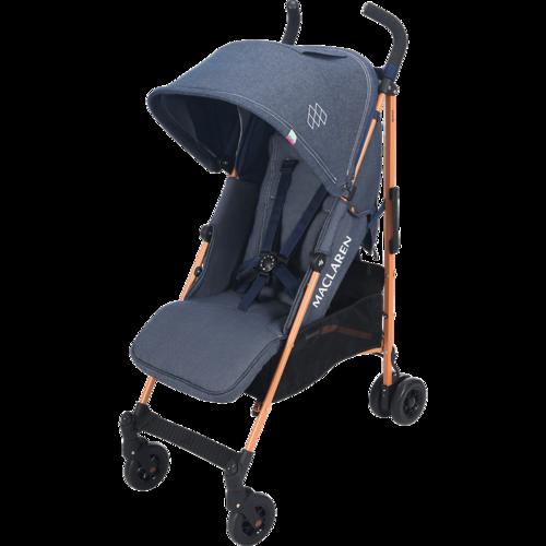 טיולון לתינוק קווסט 2019 עם גגון מורחב ומערכת נסיעה חדשה - ג'ינס