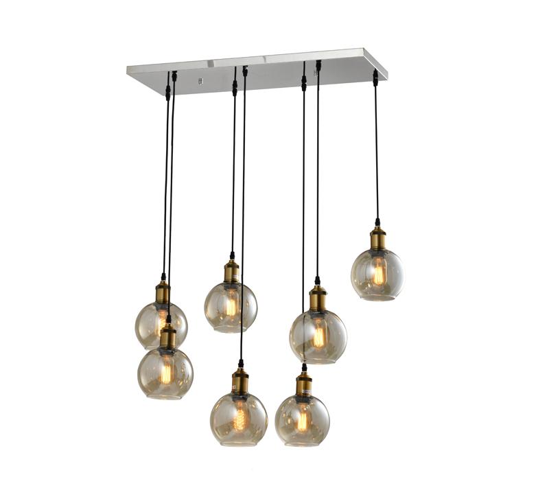 מנורת תליה 7 גופי תאורה ליב ביתילי
