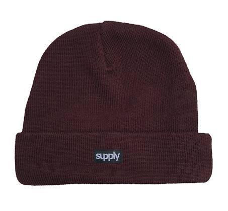 כובע גרב SUPPLY - בורדו