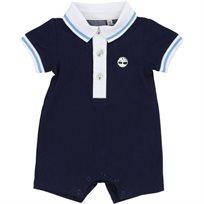 TIMBERLAND טימברלנד אוברול (1-12 חודשים) - כחול סמל בצד