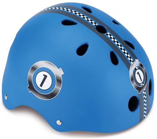 קסדה בטיחותית ומעוצבת עם מנגנון התאמה לראש - כחול - תמונה 2