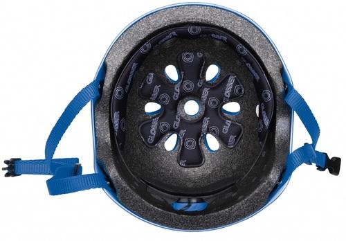 קסדה בטיחותית ומעוצבת עם מנגנון התאמה לראש - כחול - תמונה 5