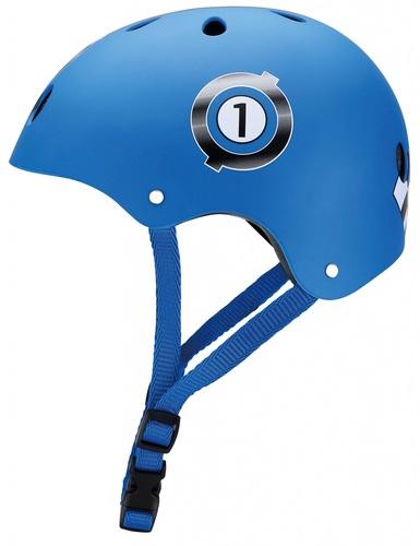 קסדה בטיחותית ומעוצבת עם מנגנון התאמה לראש - כחול