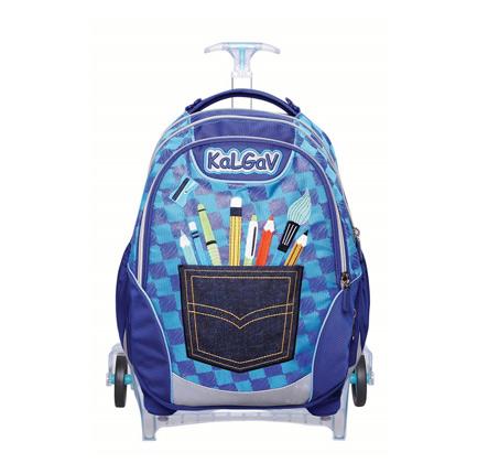 ילקוט אורטופדי X BAG TROLLEY בדגם עפרונות + בקבוק שתייה מתנה
