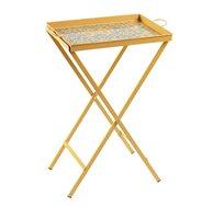 שולחן מגש צבעוני ממתכת לשימוש למרפסת ולגן במגוון צבעים לבחירה
