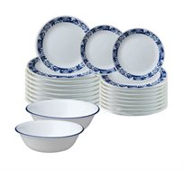סט כלי אוכל 54 חלקים ל-18 סועדים דגם TRUE BLUE