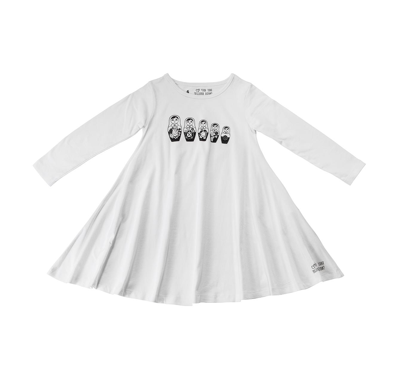 שמלת ג'רזי מסתובבת ארוכה - אופוויט עם בבושקות