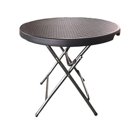 שולחן ראטן עגול מתקפל 80 ס
