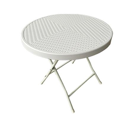 """שולחן עגול מתקפל 80 ס""""מ במגוון צבעים לבחירה"""