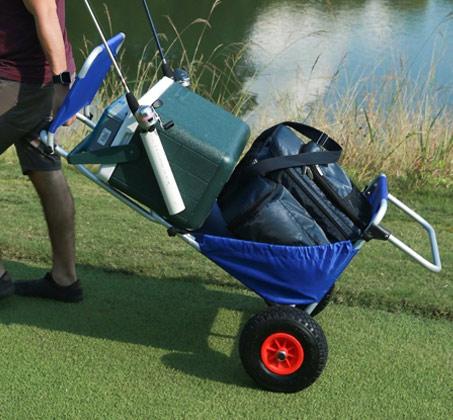 עגלה המשלבת כיסא לים ולקמפינג בעלת גלגלים עמידים לכל סוגי השטח - משלוח חינם - תמונה 3