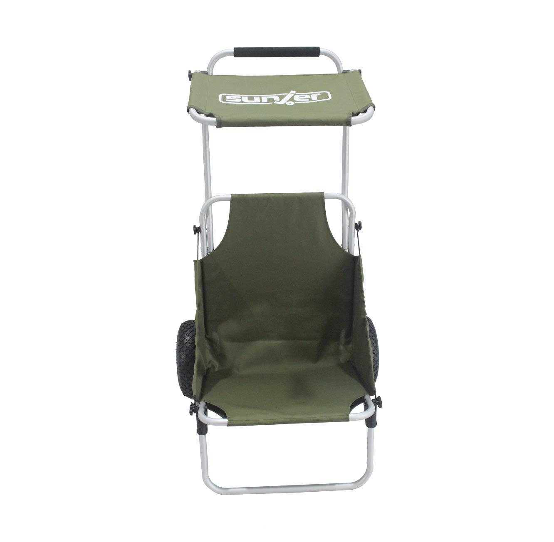 עגלה המשלבת כיסא לים ולקמפינג בעלת גלגלים עמידים לכל סוגי השטח - משלוח חינם - תמונה 5