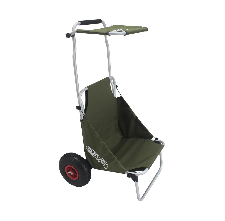 עגלה המשלבת כיסא לים ולקמפינג בעלת גלגלים עמידים לכל סוגי השטח - משלוח חינם - תמונה 4