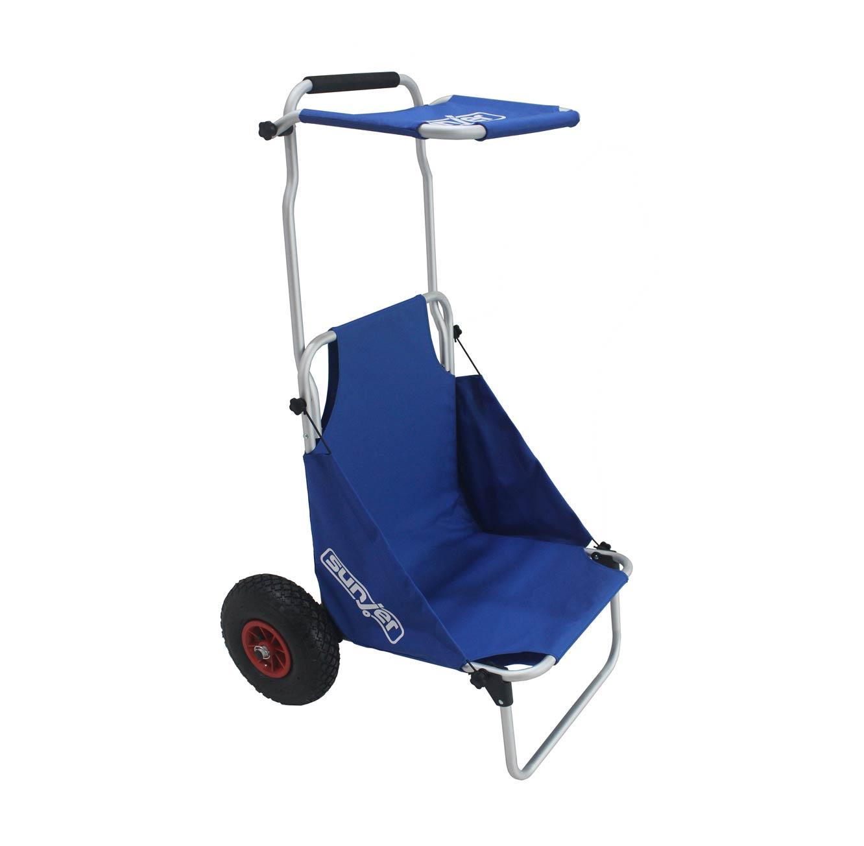 עגלה המשלבת כיסא לים ולקמפינג בעלת גלגלים עמידים לכל סוגי השטח - משלוח חינם - תמונה 2