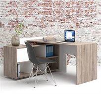 עמדת עבודה פינתית עם שולחן כתיבה משולב כוורת, מתאימה לבית ולמשרד תוצרת אירופה HOME DECOR