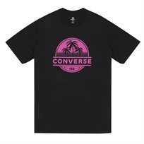 Converse גברים// חולצה וינטג עצי דקל שחור