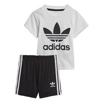 ADIDAS תינוקות// SHORT TEE SET WHITE/BLACK