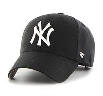 כובע ניו יורק יאנקיז  - שחור סמל לבן