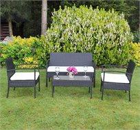עודפים-סט ישיבה לגינה דמוי ראטן דגם קורפו
