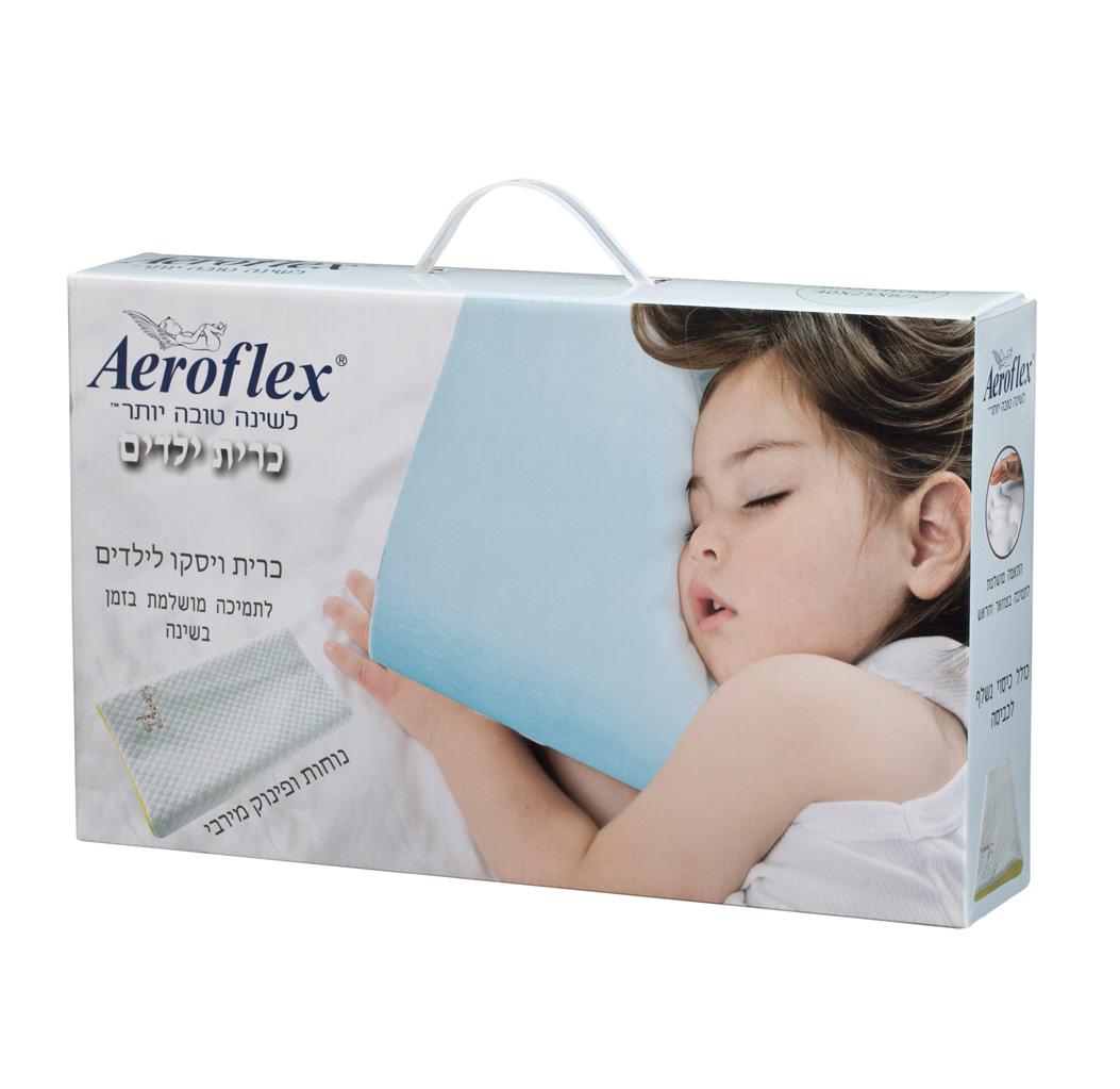 כרית ילדים VISCO KIDS מבית Aeroflex להענקת תמיכה לצוואר ולראש לשינה בריאה - תמונה 3