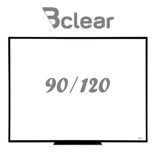 לוח מחיק זכוכית מגנטי לבן משולב עם שחור 90X120 ס''מ - תליה נסתרת