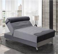 מיטה וחצי אורתופדית 12 מצבים מעוצבת בעלת בד יוקרתי במיוחד דגם סיגל LEONARDO