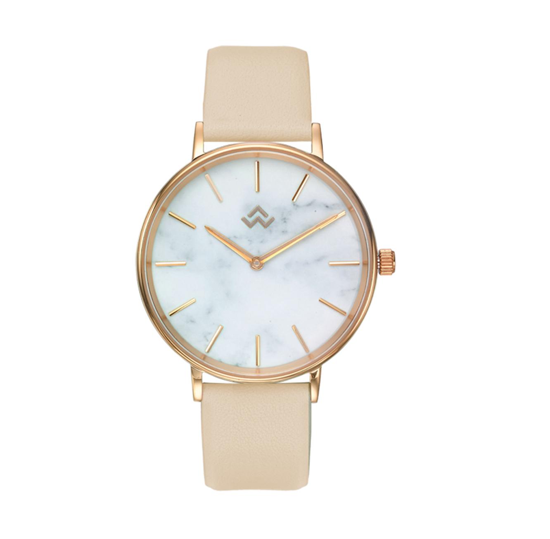 שעון יד לנשים רוז-גולד עם לוח בגוון שיש