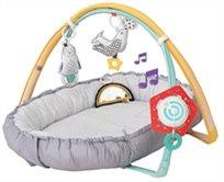 עריסת קן לתינוק עם קשתות וצעצוע אורקולי נייד 4 ב 1