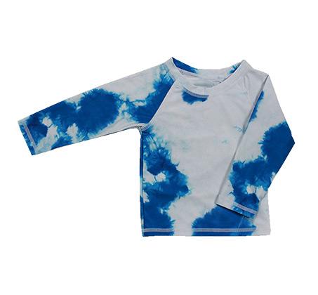 חולצת בגד ים Minene לבנות - טאי דאי כחול