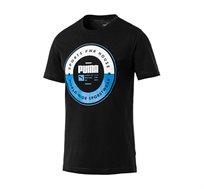 חולצת טי מודפסת דגם L85407801 לגברים - שחור