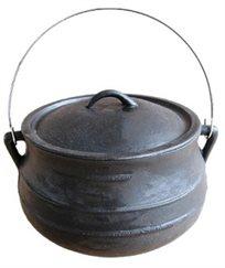 סיר פויקה בינוני שטוח בנפח 8 ליטר לבישול בשטח מבית CAMPTOWN
