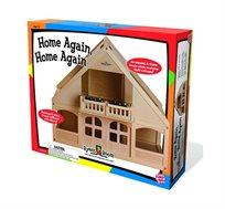 בית בובות ליצירה מעץ לגילאי 3 ומעלה