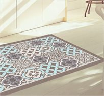 שטיח מעוצב דגם מוקה טורקיז בגדלים לבחירה