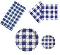 סט פיקניק כחול לבן איכותי ליום העצמאות המתאים ל-25 סועדים