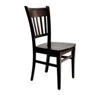כיסא קלאסי מעץ למטבח עם ריפוד במושב במבחר צבעים לבחירה