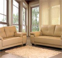 סט ישיבה תלת ודו מושבי בריפוד דמוי עור בעל מגע נעים וקל לניקיון דגם מרקיזה VITORIO DIVANI - משלוח חינם