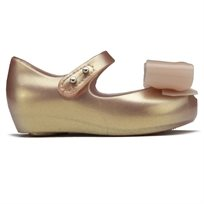 Melissa ילדים// Mini Ultra Girl Bow Metallic Pink