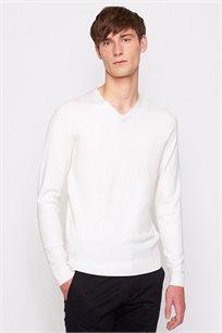סוודר לגבר DEVRED - לבן