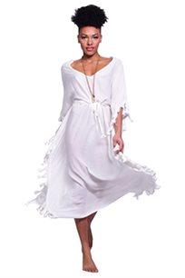 שמלה גלביה לבנה